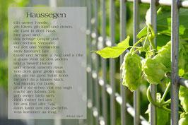 Haussegen Dolden Zaun