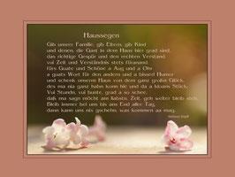 Haussegen Blüten