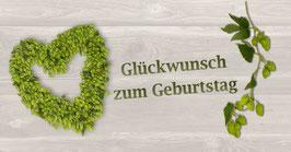 Klappkarte GTK 1 Hopfenherz  HHB/grün