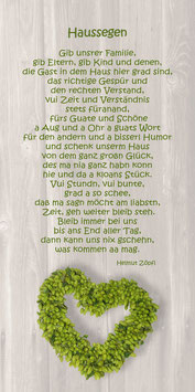 """Haussegen Hopfenherz BW"""""""