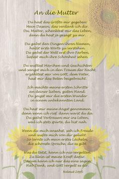 """An die Mutter..."""" Sonnenblumen"""""""