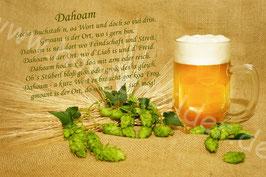 """""""Dahoam""""traditionellmit Hopfen, Korn & Bier"""