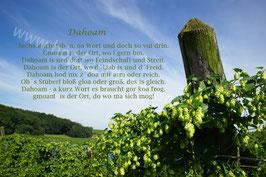 """Dahoam"" Hopfensäule"