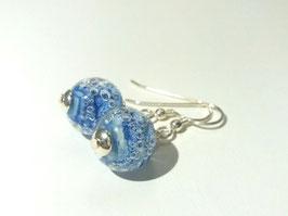 "Ohrhänger ""Marmor Blau"""