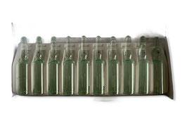 Caja 10 unidades ampollas diluyente verde