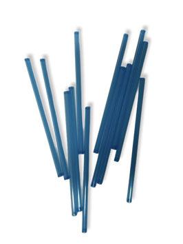 Capilar de plástico azul transparente