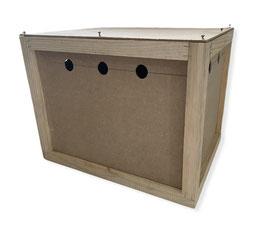 Transportin de madera para envío mascotas mediano