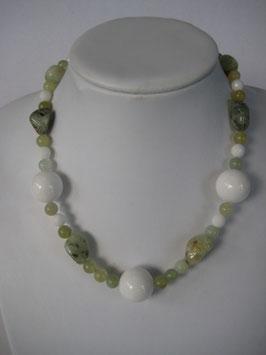 Edelsteinketten Jade - Prehnit - Serpentin