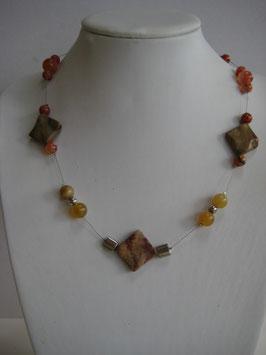 Edelsteinkette Achat-Karneol-Jaspis