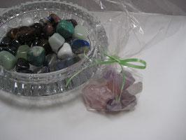 Wasserbelebung mit Edelsteinen: Grundmischung Rosenquarz-Amethyst-Bergkristall