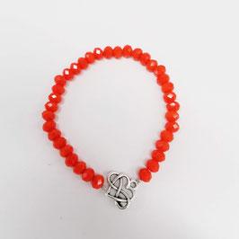 Armband Calyplso korallrot