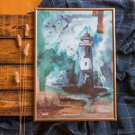 """Print """"Großer Leuchtturm"""" A3"""