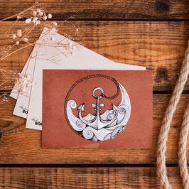 "Postkarte ""Anker"""