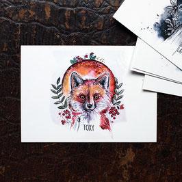 "Postkarte A6 ""Fuchs"""