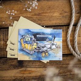 Maritime Weihnachtskarte