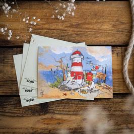 "Postkarte A6 ""Leuchtturm Schöne Aussicht"""