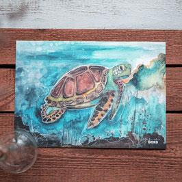 """Print A4 """"Meeresschildkröte"""""""