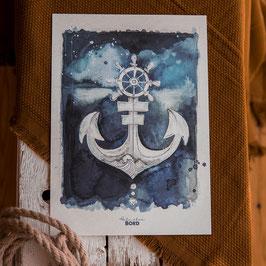 """Print A4 """"Blauer Anker"""""""