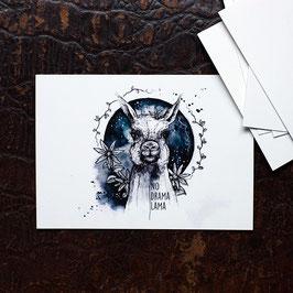 "Postkarte A6 ""Lama"""