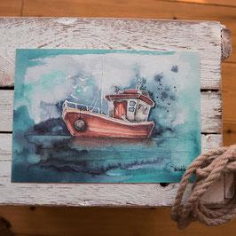 """Print A4 """"Fischerboot"""""""