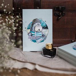 """Postkarte A6 """"Knut"""""""