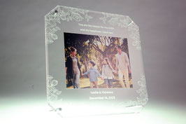 Acrylic Photo Frame Flower 3 (6R size)