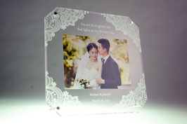 Acrylic Photo Frame Flower 2 (6R size)