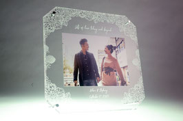 Acrylic Photo Frame Flower 1 (6R size)