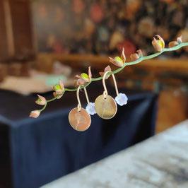 Ohrringe Blüten-Hänger vergoldet
