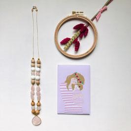 Sautoirs perles et bois