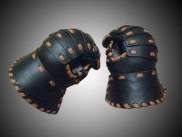 Leder Laminar Handschuh