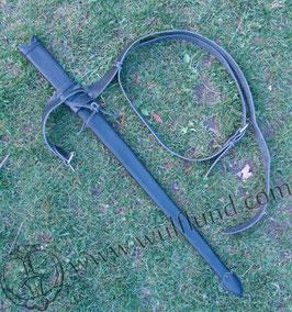 Schwertscheride mit Gürtel, Leder