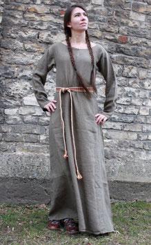 Frauenkleid - Wikinger, frühes Mittelalter Wolle oder Leinen