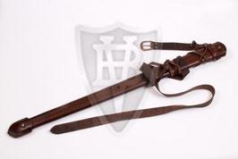 Schwertscheide aus Leder mit Gürtel