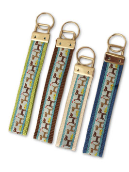 Schlüsselband 25 mm breit Hunde oder Pfotenmotiv