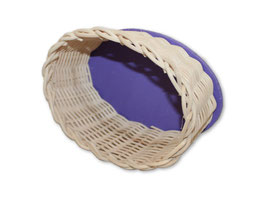 Peddigrohrkörbchen oval mit Holzboden