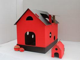 Katzenhaus rot