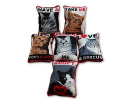 Katzenminzekissen schwarz/rot/weiß
