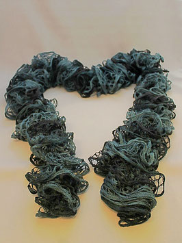 Rüschenschal dunkelblau/hellblau