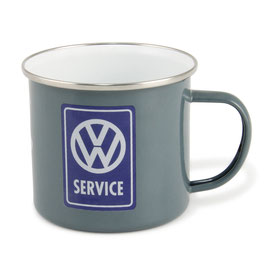 Original VW Bulli T1 Emaille Becher VW Service