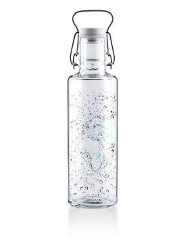 """Soulbottles Trinkflasche aus Glas """"Waterworld"""" 0,6l"""