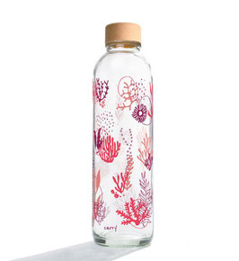 """Carry Bottles Trinkflasche aus Glas """"Coral Reef"""" 0,7 l"""
