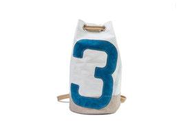 727 kleiner Seesack Jack aus Segeltuch blaue Leder-Zahl