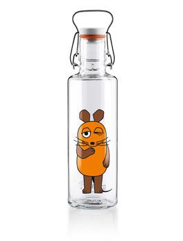 """Soulbottles Trinkflasche aus Glas """"Die Maus"""" 0,6l"""