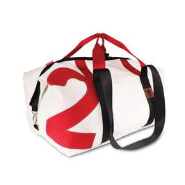 360° Reisetasche Kutter XL weiß Zahl rot