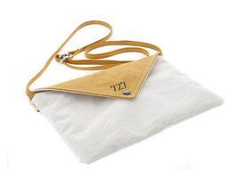 727 Handtasche Lys aus Segeltuch weiß/moutard