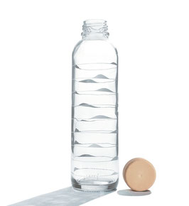 "Carry Bottles Trinkflasche aus Glas ""Ocean Waves"" 0,7 l"