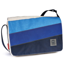 360° Messenger Bag Barkasse mini 3 Balken blau