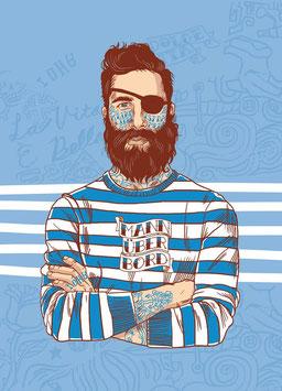 "Maritime Postkarte ""Sailor Fiete"""