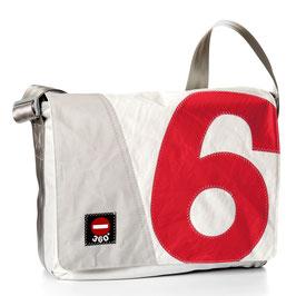 360° Messenger Bag Barkasse L Zahl rot